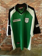 WORCESTERSHIRE COUNTY CRICKET CLUB PONY GREEN, WHITE & BLACK CRICKET SHIRT L