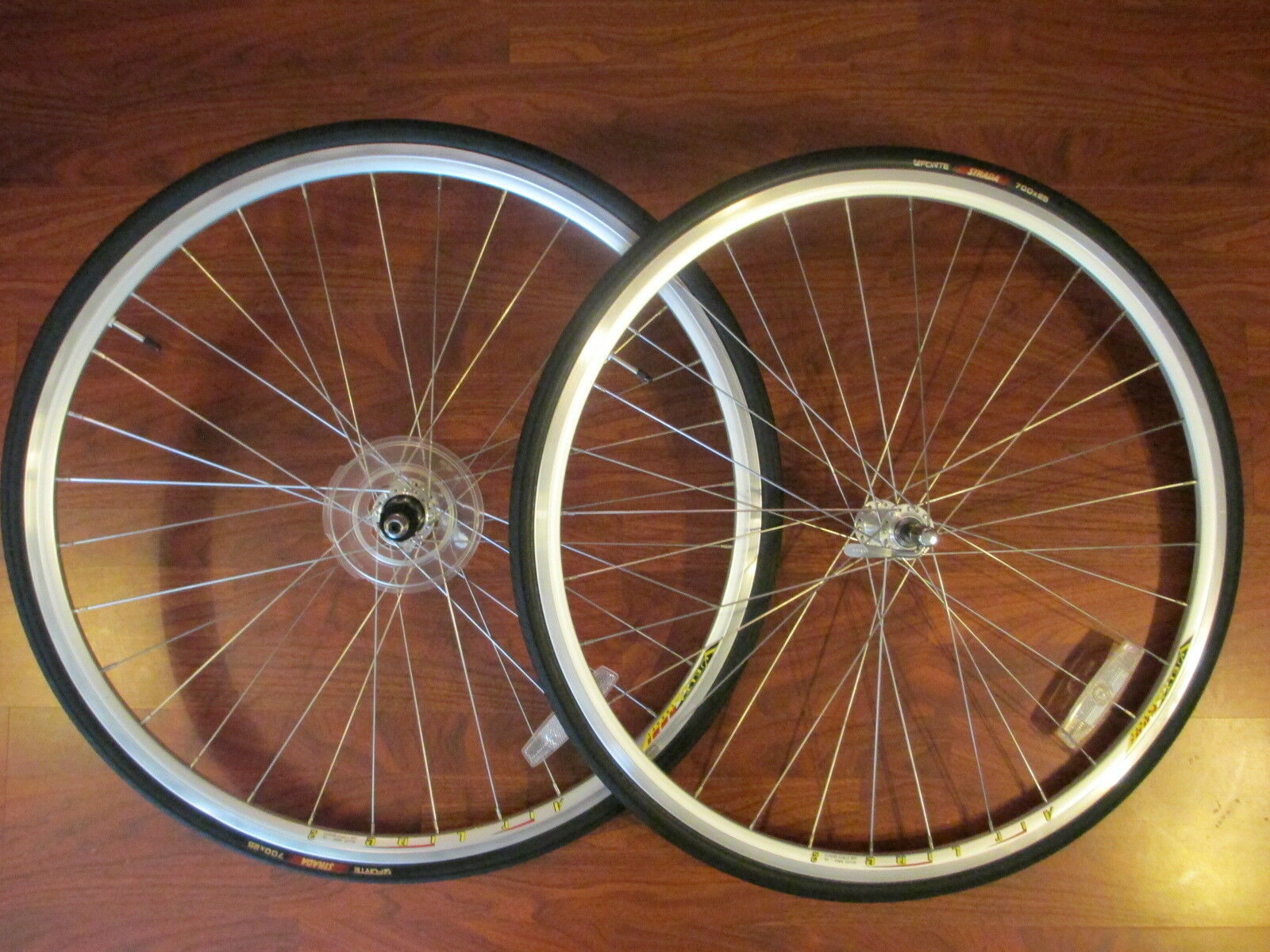 VUELTA RODI EUROPE AIRLINE 2 SHIMANO 8 9 10 SPEED WHEEL SET 700 x 25 FORTE TIRES