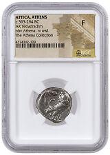 Greek City-State Athens Silver Tetradrachm Athena Collection NGC F SKU42585