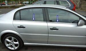2002-2008-Opel-Opel-Vectra-C-Cromo-Moldura-Cubierta-Marco-de-Windows-4-un-Acero-Inoxidable-De-Acero