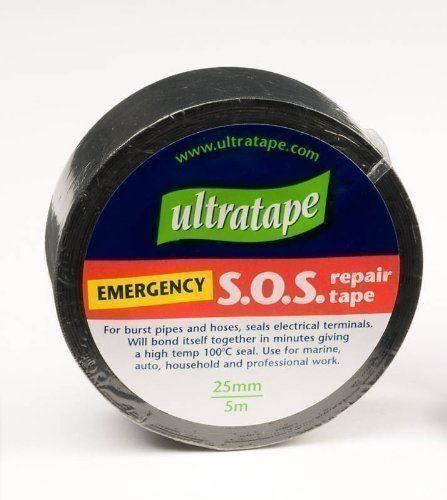 Ultratape Negro de emergencia SOS Fix Cinta que pega por las reparaciones de tuberías