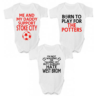 Funny Stoke City Fc Baby Grow/story-divertente Potters Bambini Clothing-