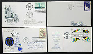 US-Postage-Set-of-4-Covers-Letters-American-Legion-Stamp-FDC-USA-Letters-H-8317
