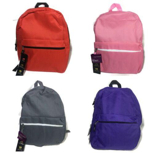 "Wexford Basic Backpack 17/""x12/""x5.5/"" Book Bag Daypack School Lightweight"