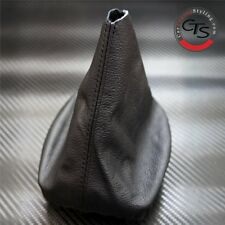 VW GOLF MK4 1998-2003 BLACK STITCH LEATHER GEAR STICK KNOB COVER GAITER NEW