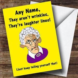 Old lady laughter lines wrinkles funny personalised birthday image is loading old lady laughter lines wrinkles funny personalised birthday m4hsunfo