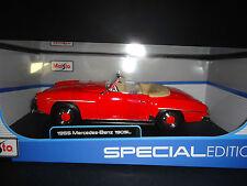 Maisto Mercedes Benz 190SL 1955 Red 1/18