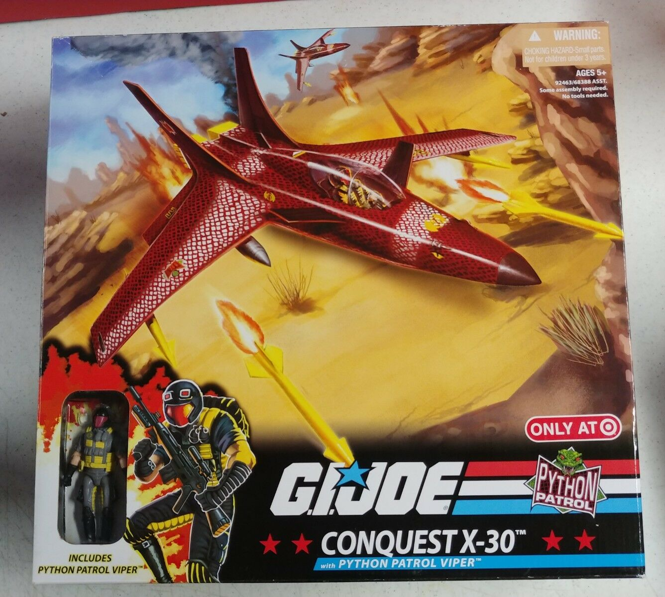 G.I. JOE Exclusive Deluxe Vehicle Conquest X-30 w/ Python Patrol Viper MISB NEW