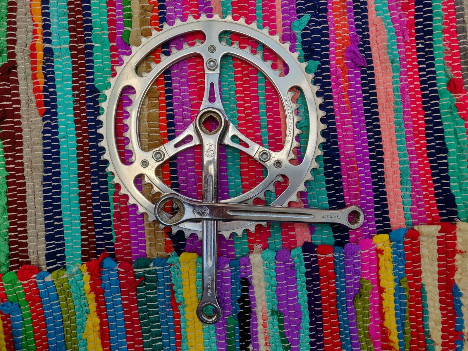 Vintage Campagnolo Sport steel Crankset  5342