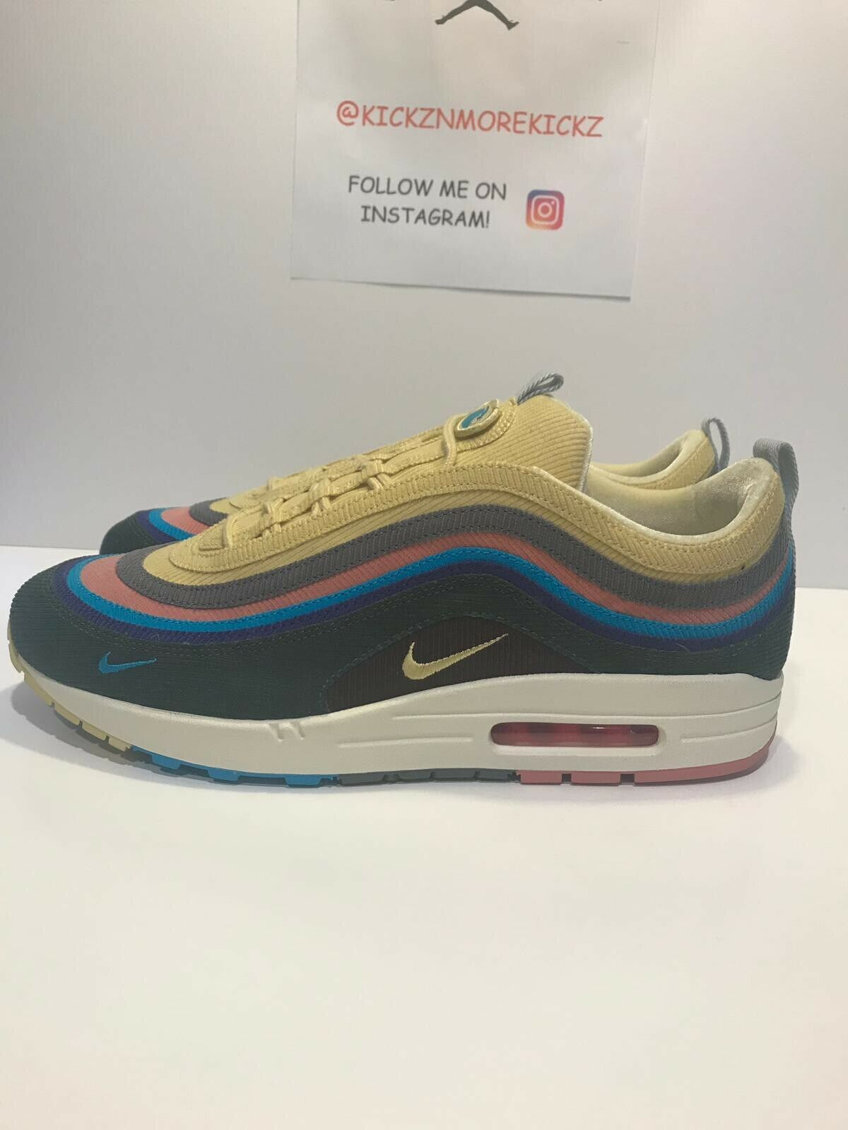 Air Max 1 97 Sean Wotherspoon Size 13 AJ4219-400 Extra Laces BRAND NEW DS