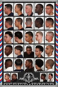 24 X 36 Modern Barber Shop Salon Hair Cut For Men Chart Poster 2 Ebay
