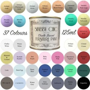 Prime Details About Shabby Chic Chalk Paint For Furniture 125Ml Matt Finish Choice Of 37 Colours Beutiful Home Inspiration Truamahrainfo