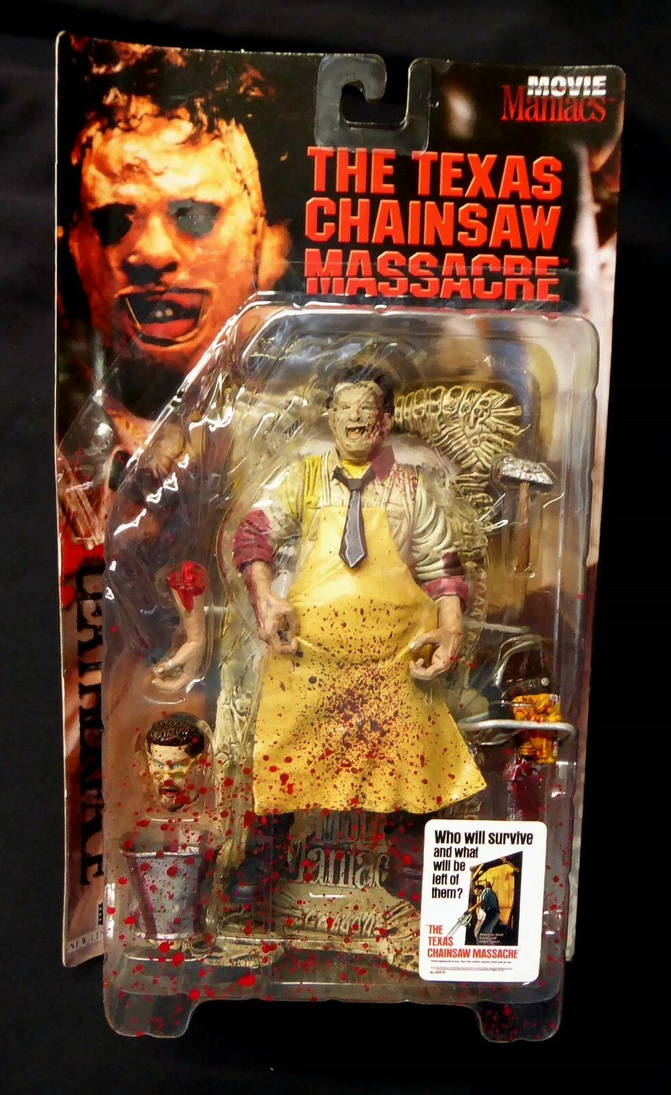 McFarlane Toys Movie Maniacs Super Bloody Lederface Variant Figure New 1998