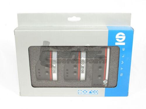 Sparco Settanta Pedal Set Clutch Brake Accelerator Black Manual Transmission MT