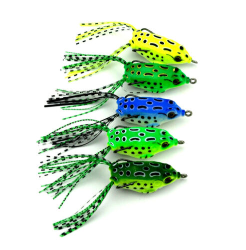 course fishing lures weedless Pike Zander hooked frog lure UK SELLER #20