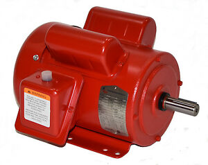 1hp Electric Motor 143t 1 Phase 1750 Rpm 115 230 F143t1s4c