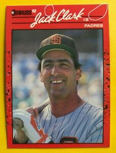 1990 NO Dot INC Period JACK CLARK Donruss w/2 ERRORS MINT Baseball Card 128 RARE