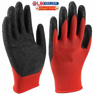 Latex Grip Builders GloveWet /& Dry Grip Safety Working Mens Gloves Gardening