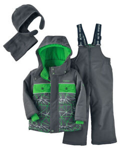 fa1e06d7f OshKosh Boy's 4-PC Ski Snowsuit Micro-Fleece Lined Jacket & Bib Set ...