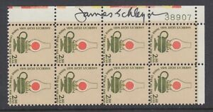 US-Sc-1611-MNH-1978-2-Lamp-Plate-Block-signed-by-its-designer-James-Schleyer