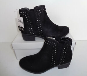 LADIES-WOMENS-NEW-BLOCK-HEEL-ANKLE-STUDDED-DIAMANTE-CHELSEA-SHOES-BOOTS-SIZE-3-8