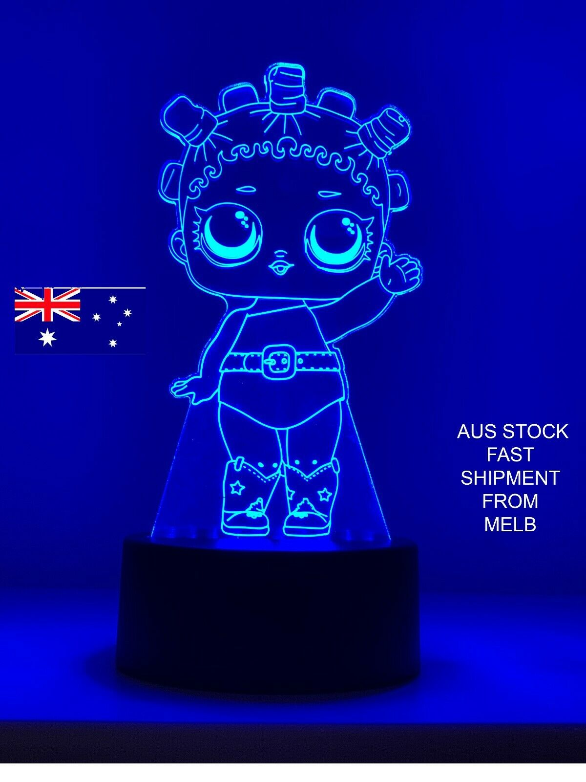 LOL SURPRISE DOLL COSMIC QUEEN 3DLED LIGHT 7 Color Night Light remote RARE LAMP