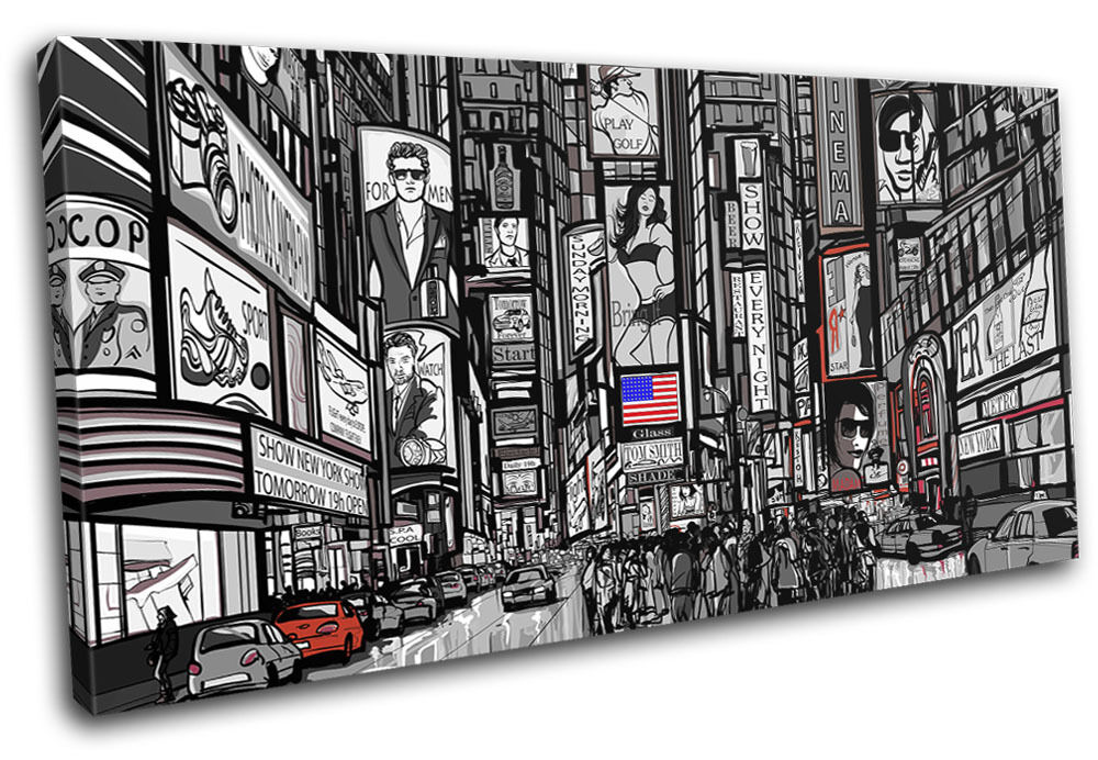 New York City SINGLE TOILE murale ART Photo Print