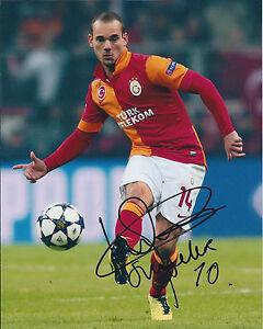 Wesley-SNEIJDER-Signed-Autograph-10x8-Photo-AFTAL-COA-Galatasaray-Turkey-RARE