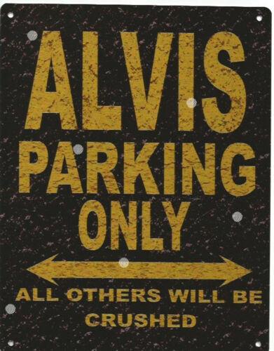 ALVIS METAL PARKING SIGN RUSTIC STYLE car tin shed garage workshop