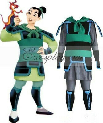Kingdom Hearts II 2 Fa Mulan Ping Version Outfit Cosplay Costume:3