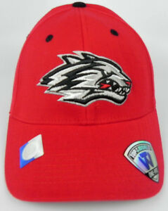 NEW-MEXICO-LOBOS-NCAA-RED-ADULT-FLEX-FIT-1-FIT-TOW-CAP-HAT-NWT