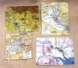 16 scale iraq afghanistan kuwait map set ebay image is loading 1 6 scale iraq afghanistan kuwait map set gumiabroncs Image collections