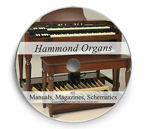 Details about Rare Hammond Organ Manuals Schematics on DVD Magazines on