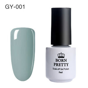 born pretty gellack uv led soak off gel nagellack grau farbgel diy 001 ebay. Black Bedroom Furniture Sets. Home Design Ideas