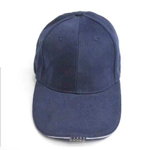 5 LEDs Baseball Cap W// Lights Adjustable Hat Fishing Camping Hiking Caving