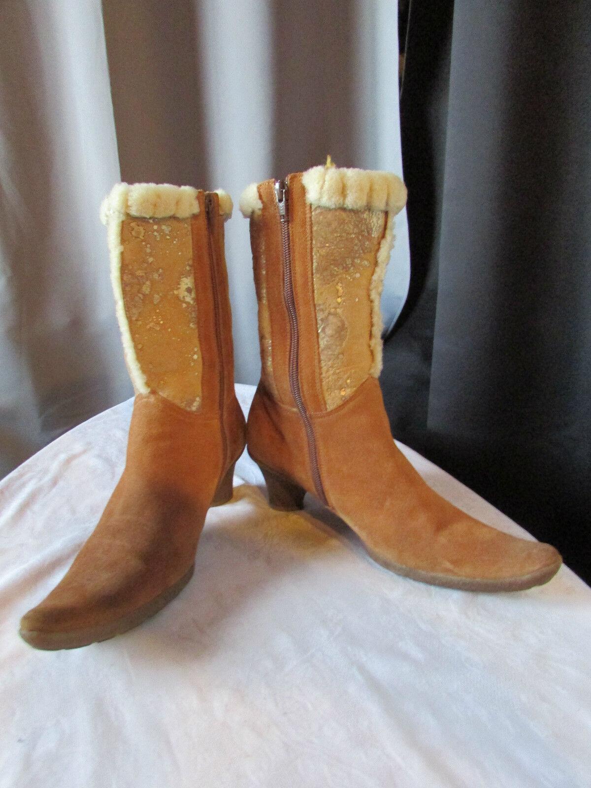Boots bottines mouton retourné camel daim daim daim camel marzetti 39 7fda17