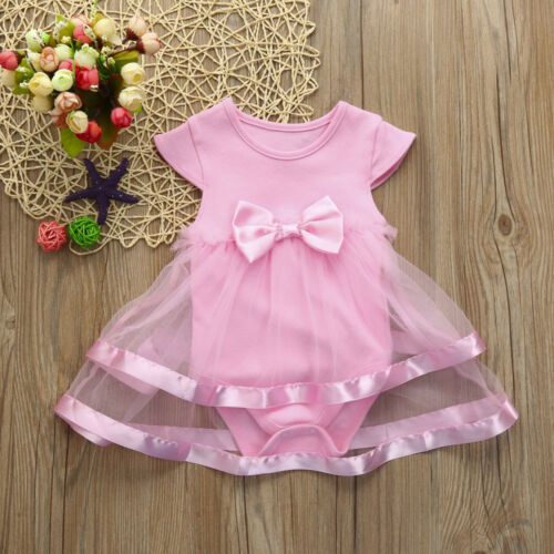 Baby Girls Infant Birthday Tutu Clothes Party Jumpsuit Princess Romper Dress KN