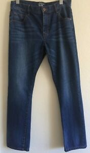 aderenti blu per unita regolare molto 32 Jeans vita scuro aderenti a gamba tinta 4qxYOa