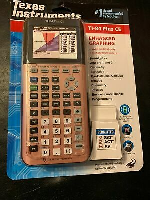 Texas Instruments 174 Ti 84 Plus Ce Color Graphing Calculator Rose Gold Sealed Ebay