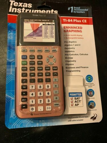Texas Instruments® TI-84 Plus CE Color Graphing Calculator Rose Gold SEALED