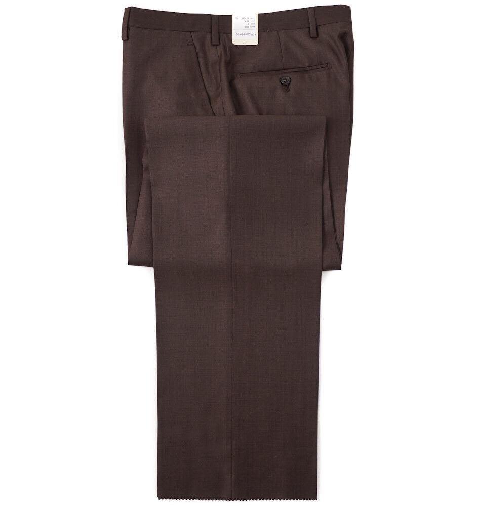 NWT  D'AVENZA Chocolate Brown Year-Round Wool Dress Pants 35 (Eu 52)