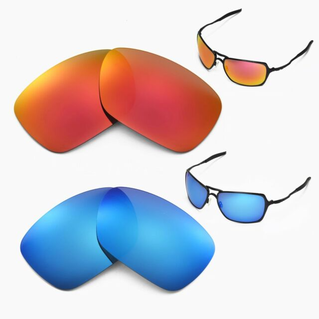8df27439fa Walleva Polarized Ice Blue Fire Red Lenses for Oakley Inmate for ...