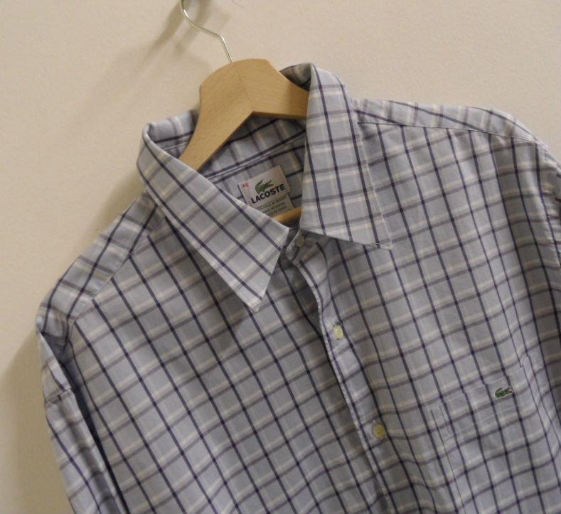 Mens Lacoste Long Sleeve Shirt Polo Shirt Size 46 XXL Original    A393