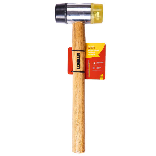 45Mm Panel Beating Hammer Mallet Polished Wooden Car Auto Repair Body Metal Wood