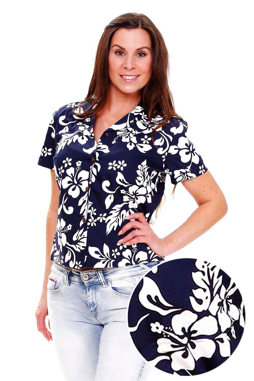 KY´s Original HawaiiBlause   Damen   81   Blau    made in Hawaii