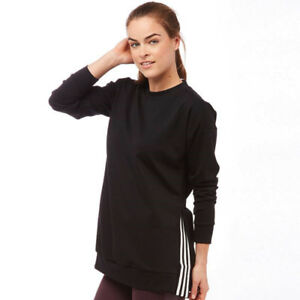 Adidas New Women S Sweatshirt Long Line Oversized Side