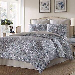 Beautiful-Blue-Grey-Cotton-Sateen-Paisley-Reversible-Comforter-4-pcs-King-Queen
