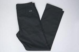 Huf-Worldwide-Footwear-Skate-Shoes-Chino-Pant-Pants-Hose-Fulton-Slim-Black-in-28