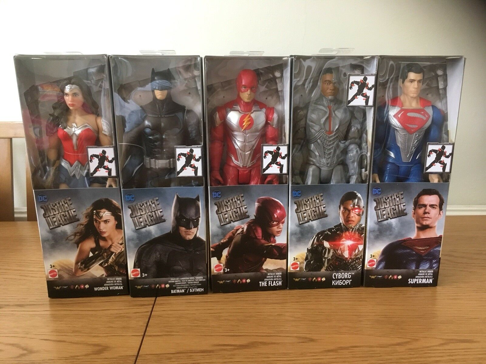 DC COMICS / MATTEL JUSTICE LEAGUE 12 INCH FIGURES X 5 BATMAN, SUPERMAN & MORE