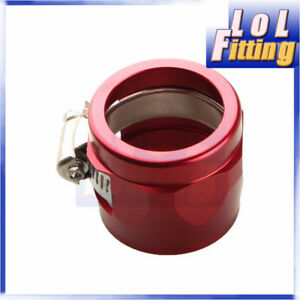 20AN-AN20-AN-20-HEX-Finisher-Adaptor-Fuel-Hose-Clamp-Aluminum-Red